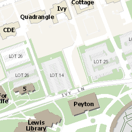 map showing ivy lane by Peyton Hall