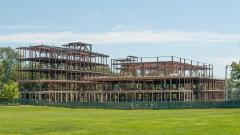 Peretsman Scully Hall/Princeton Neuroscience Institute Under Construction - Structural Steel, August, 2011