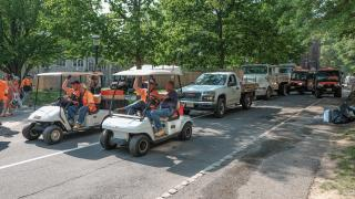 P-rade clean up crew