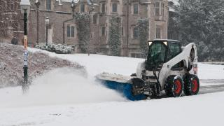 Snow Removal Near Blair Arch
