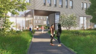 New Residential Colleges - College 8 Portal View (out)