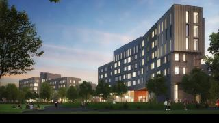 New Residential Colleges - Poe Field View