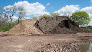 We make our own mulch, recycling campus debris