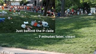 before and after p-rade cleanup