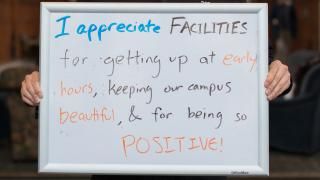 Facilities appreciation whiteboard