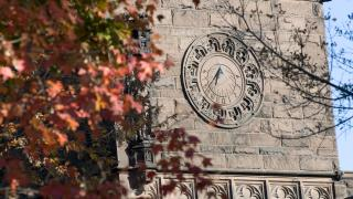 Fall colors on the clock tower