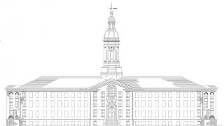 front of Nassau Hall sketch